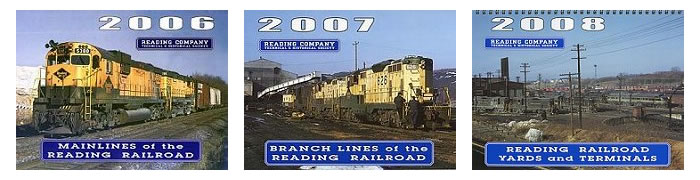 Examples of the RCT&HS annual Reading Railroad Calendar