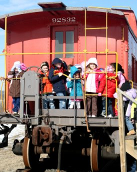 The Reading Railroad Heritage Museum welcomes school groups of any age!  Dale Woodland photo.