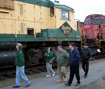 Touring the Display Yard at the Reading Railroad Heritage Museum